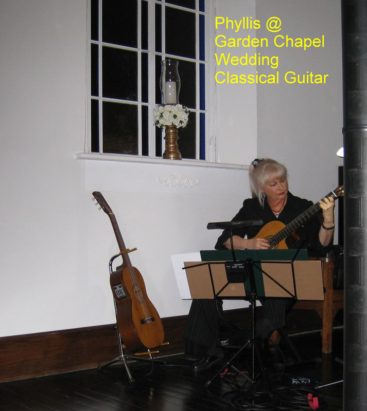 Phyllis on Classical Guitar @ Wedding Chapel, Greenfield IN